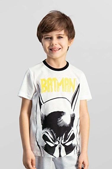 Batman Lisanslı Erkek Çocuk T-Shirt Krem